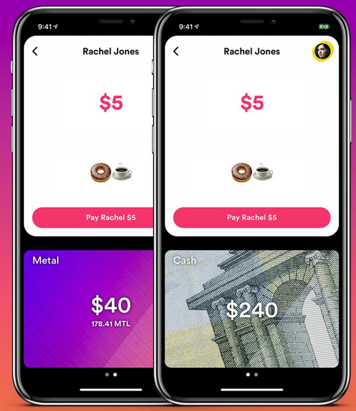MetalPay app